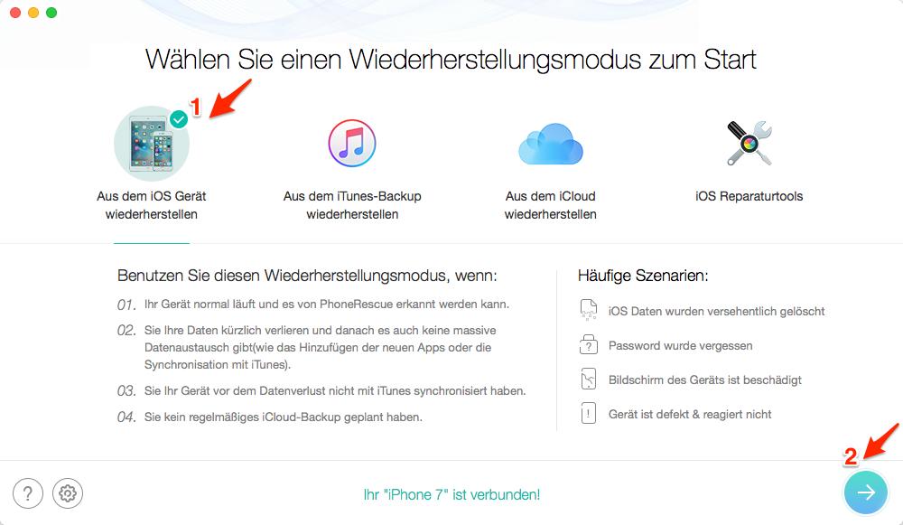 iPhone Daten wiederherstellen – ohne Backup