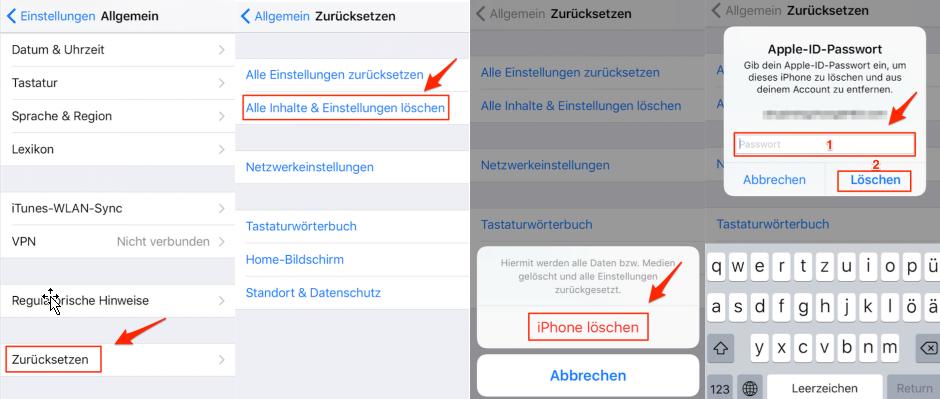 iPhone Datenrettung aus iCloud – iPhone zurücksetzen