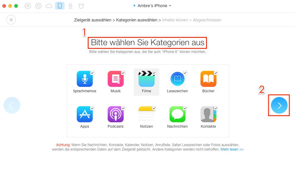 daten apple 4 auf neues iphone übertragen