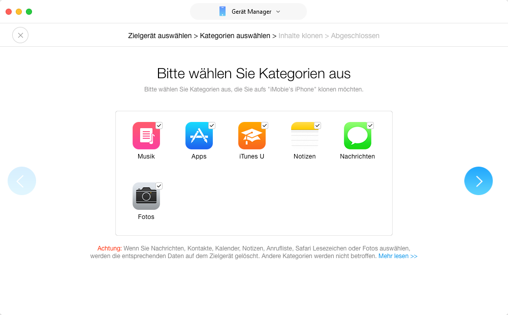 Daten von iPhone 6s/6/5s/5 auf iPhone 7 - Daten auf neues iPhone übertragen