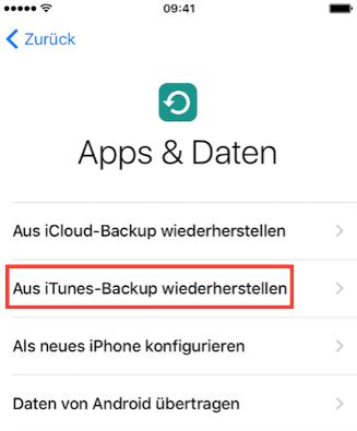 Daten vom alten iPhone zum iPhone 7(Plus) über iTunes senden