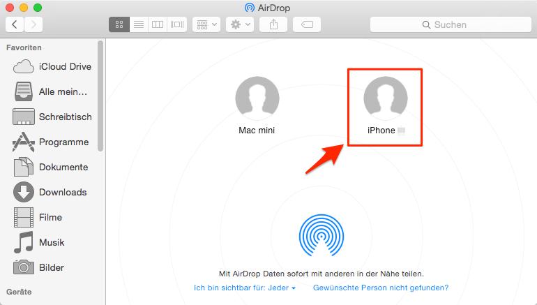 Daten vom Computer auf iPhone übertragen – Schritt 3
