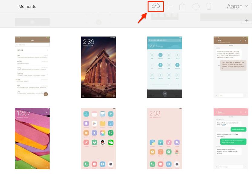 Daten auf iCloud hochladen – Schritt 1