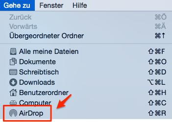 AirDrop auf Mac aktivieren – Schritt 1