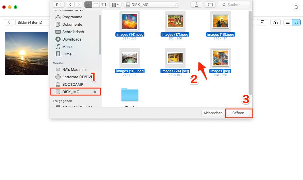 Selektiv! Daten vom USB-Stick auf iPhone kopieren – Schritt 2