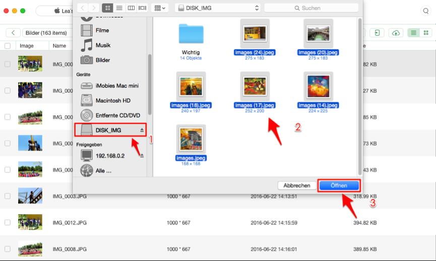 Selektiv! Daten vom USB-Stick auf iPhone kopieren - Schritt 2