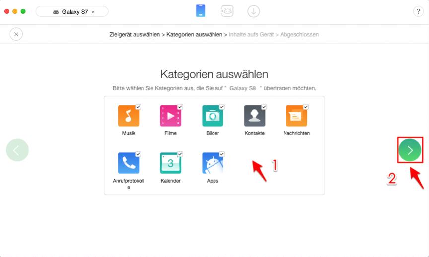 Daten von Android auf Android – Schritt 3