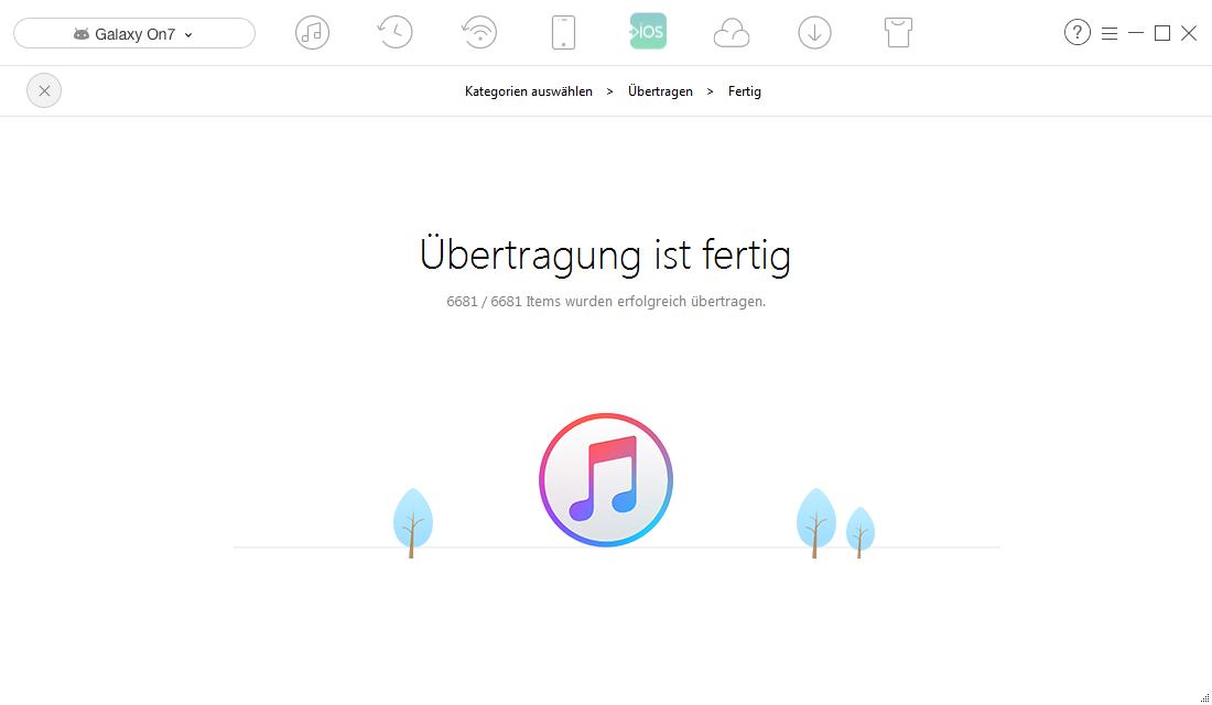 Datenübertragung von Android auf iTunes
