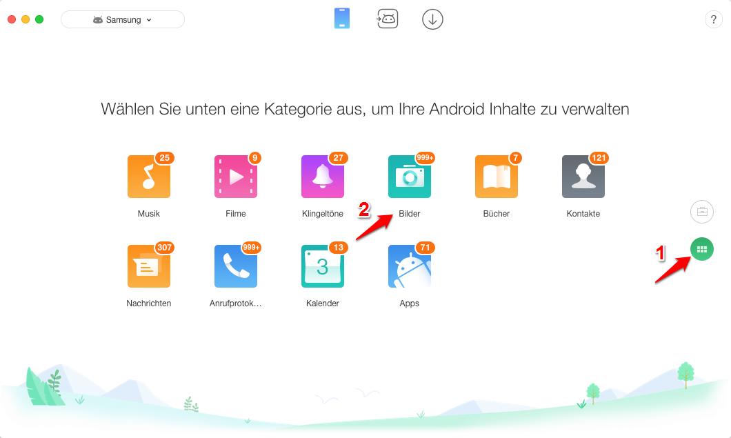 Daten von Android auf Mac – Schritt 1