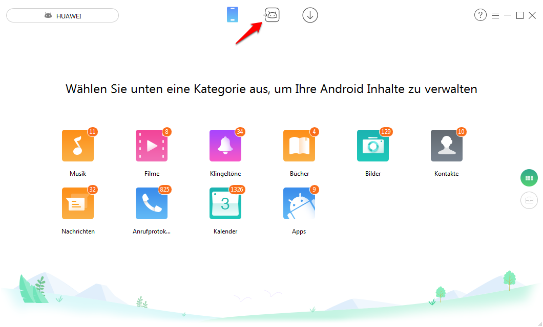 Daten von iOS auf Android – Schritt 1