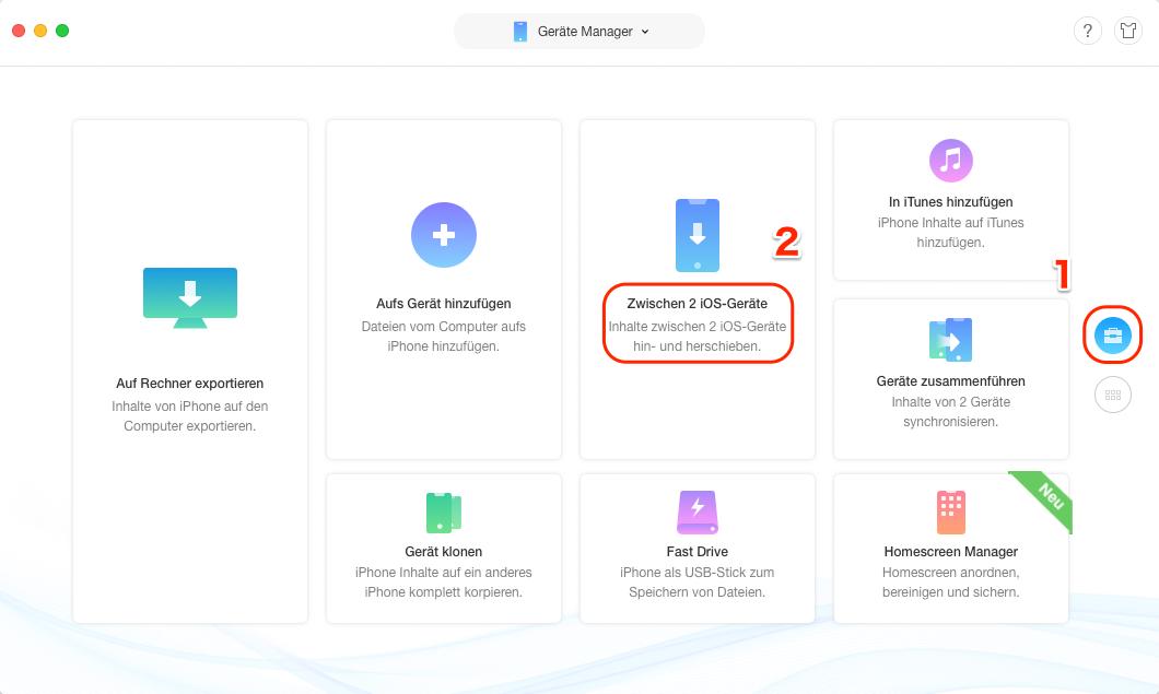 Daten von iPhone auf iPad - Daten zwischen iOS-Geräte