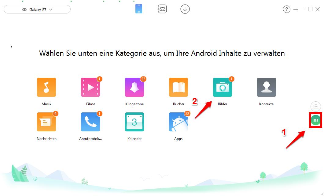 Daten von Samsung auf HTC übertragen - Schritt 2