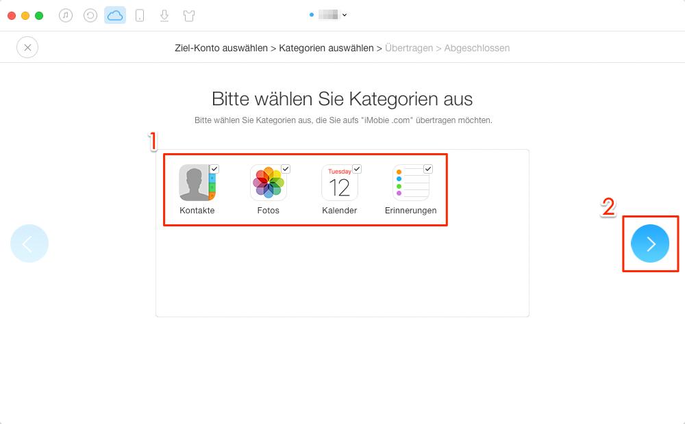 Zwei iCloud Accounts zusammenführen & verbinden - Schritt 4