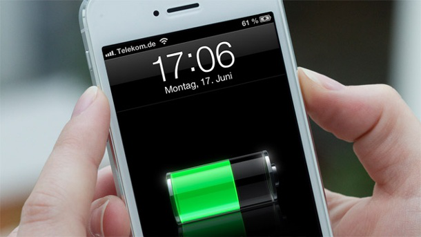 iPhone Batterie aufzuladen