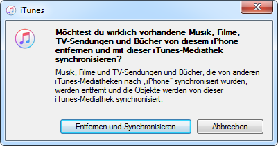 Daten mit iTunes synchronisieren
