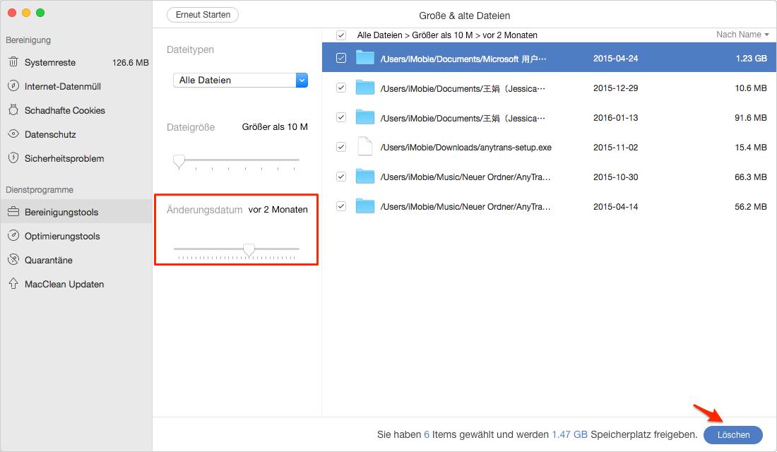 Wie kann man alte Dateien vom Mac finden und löschen - Schritt 3