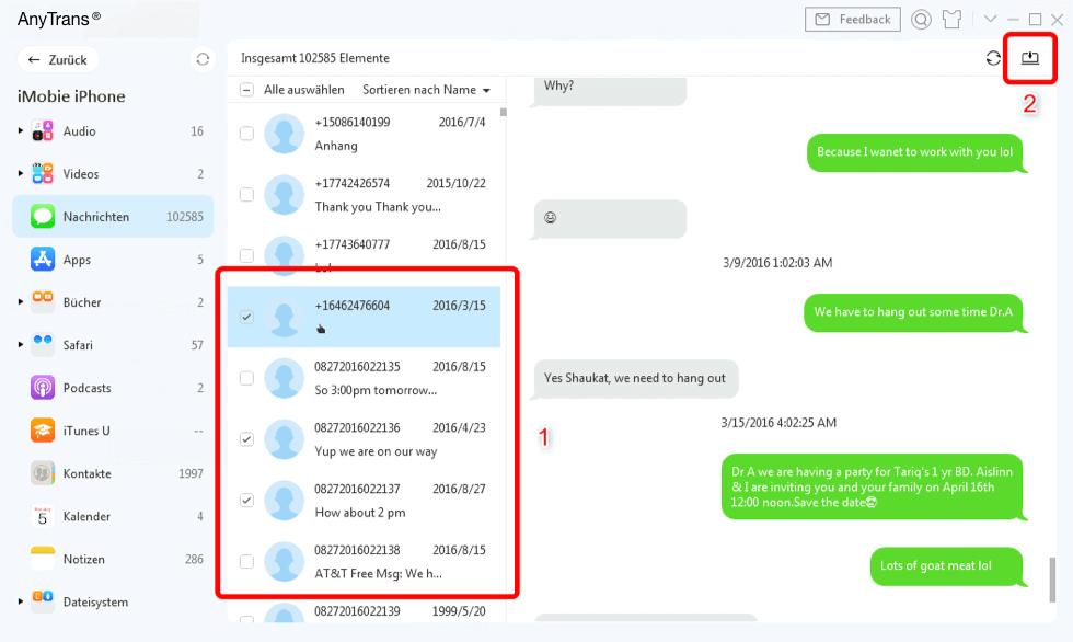 die-nachrichten-auf-computer-exportieren