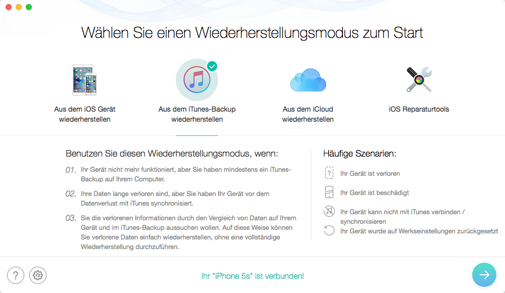 iTunes 12.7/12.7.2 Fehler: beschädigte Backup wiederherstellen