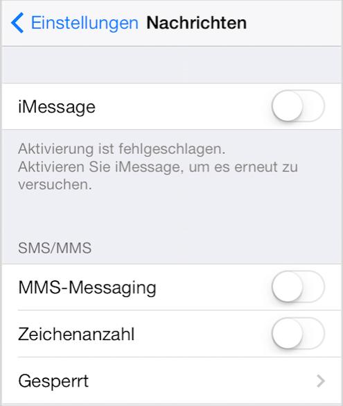 iOS 9/9.1/9.2/9.2.1/9.3/9.3.2/9.3.3 Probleme – iMessage funktioniert nicht