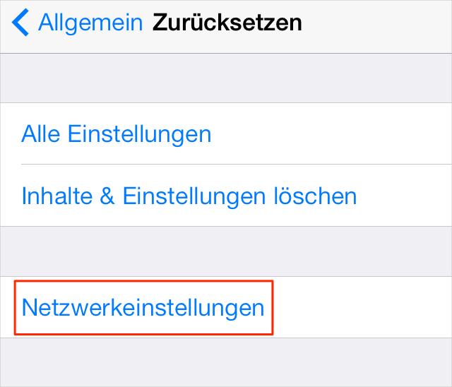 iOS 9 Probleme: Persönlichen Hotpot Problem