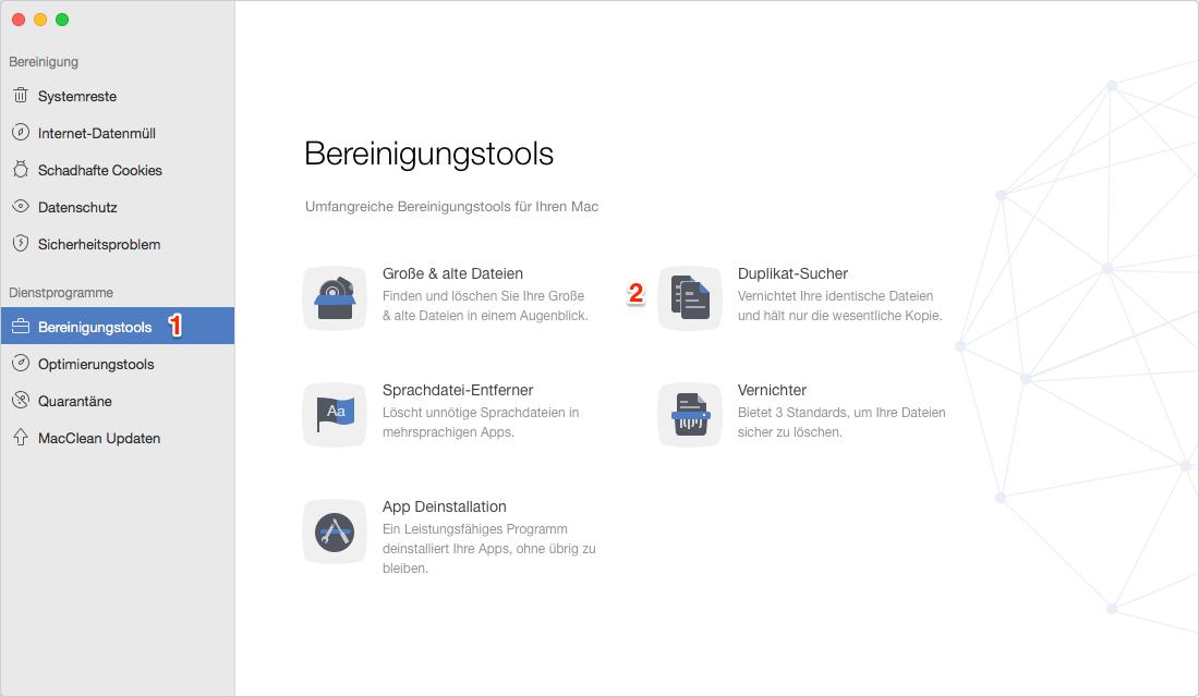 Mac doppelte Dateien finden und löschen – Schritt 1