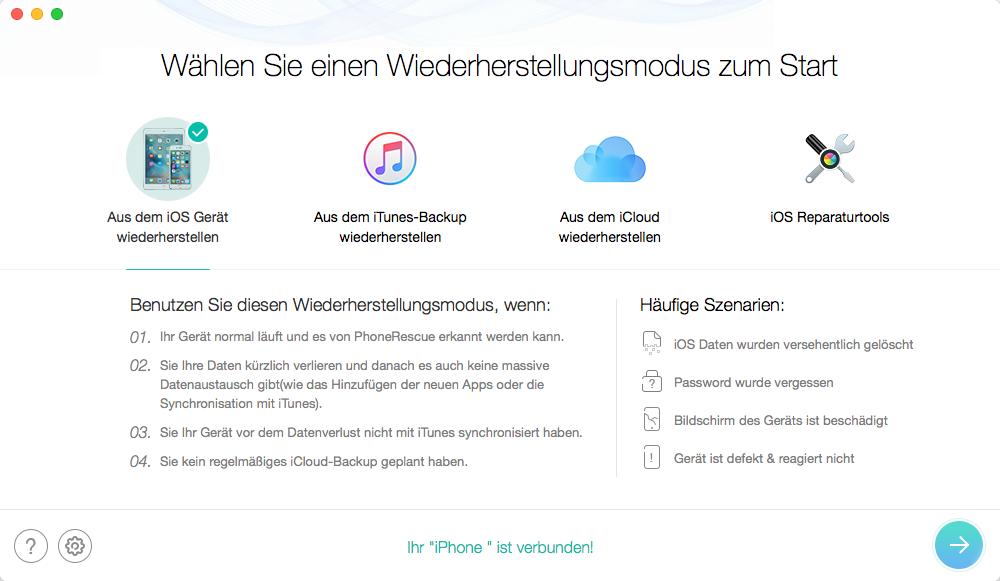 iOS 10/10.2/10.3.2 Downgrade ohne iTunes: Daten ohne Backup wiederherstellen