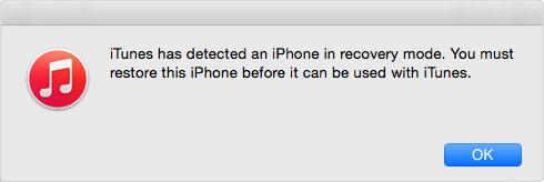 iOS 11/11.1 deinstallieren: iTunes hat iPhone in DFU-Modus erkannt – Schritt 4