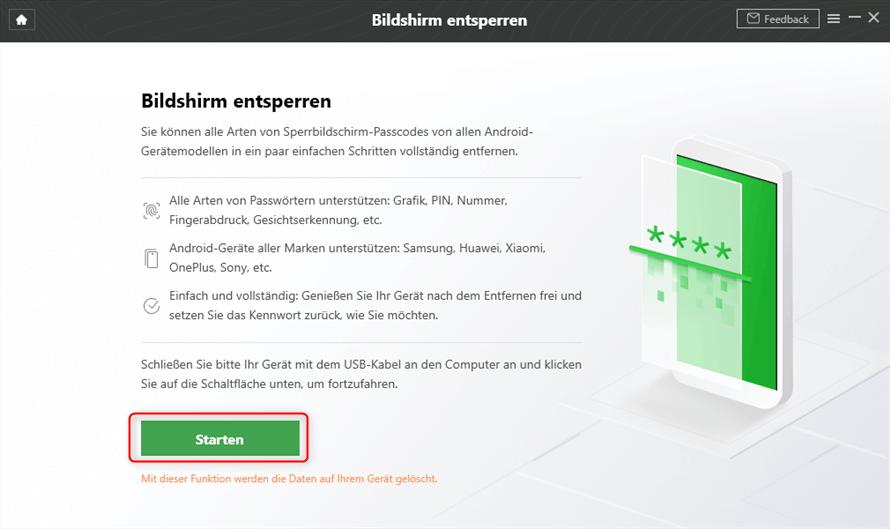 DroidKit Bildschirm entsperren