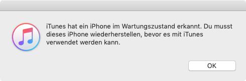 ein-popup-fenster-zeigt-iphone-im-wartungszustand