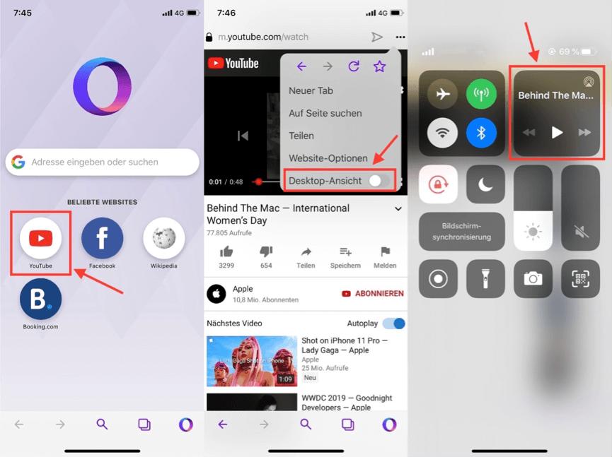 iOS und Android - YouTube im Hintergrund laufen lassen
