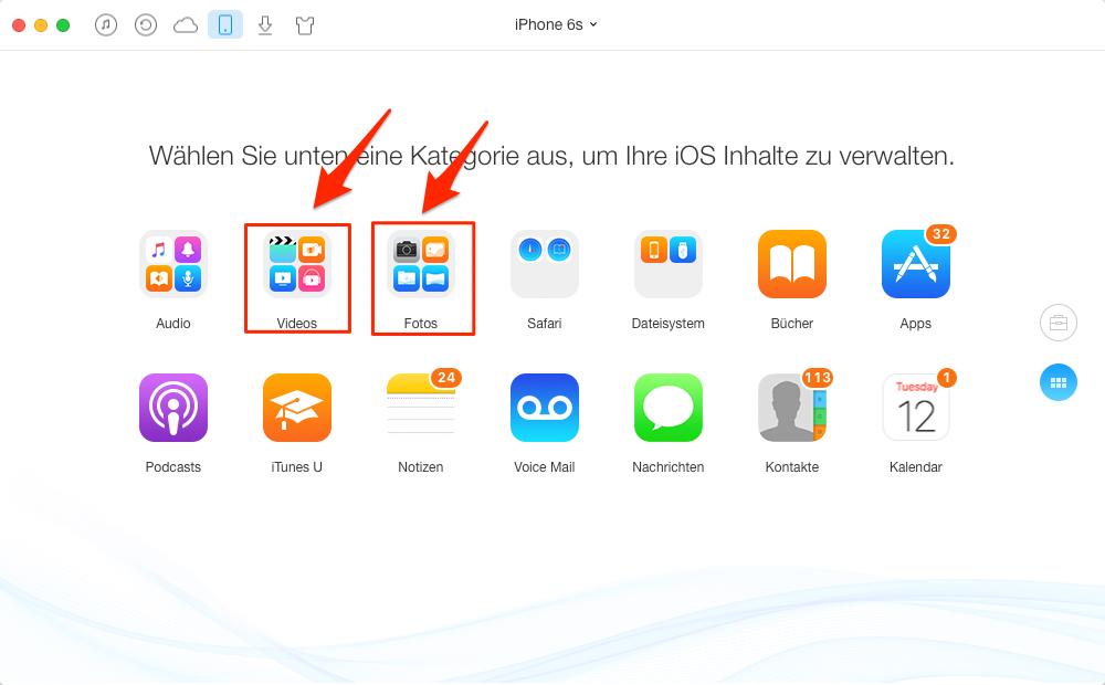 iPhone E-Mail Anhang hinzufügen – Schritt 2