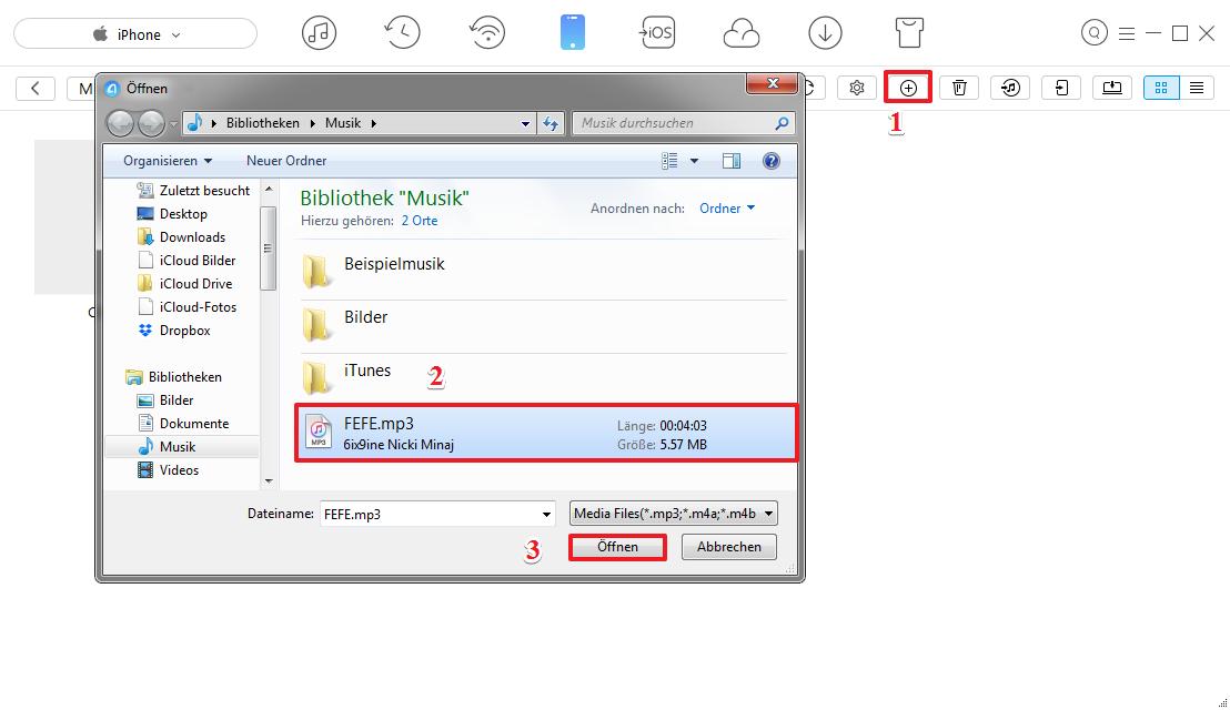 FEFE 6ix9ine auf iPhone downloaden - Schritt 2