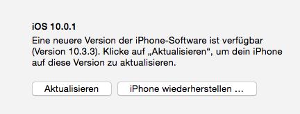 iPhone über iTunes wiederherstellen – iPhone startet nicht mehr