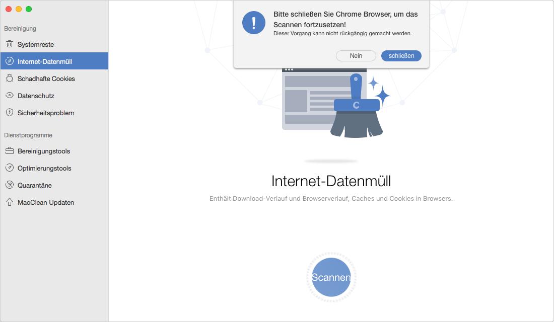 Firefox Cache löschen – Schritt 1