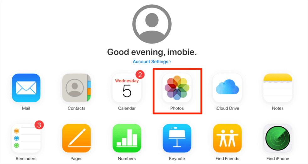 Fotos in iCloud checken