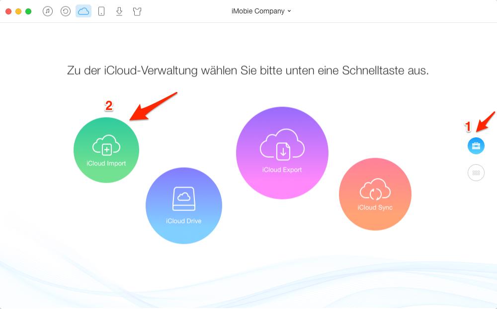 Fotos von Computer in iCloud importieren – Schritt 3