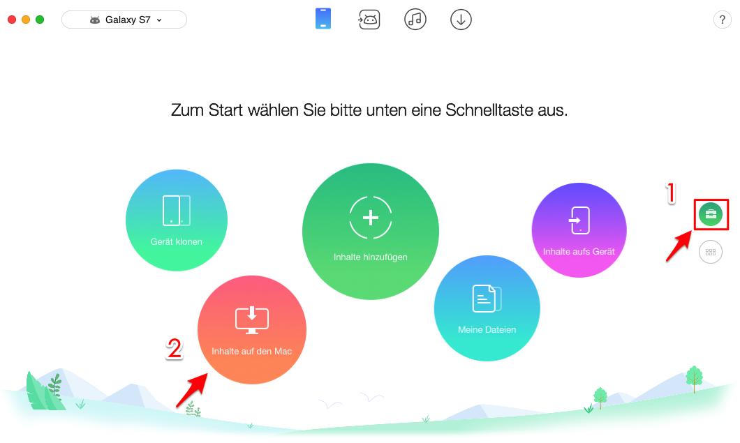 Android Fotos auf Mac/PC sichern - Schritt 2