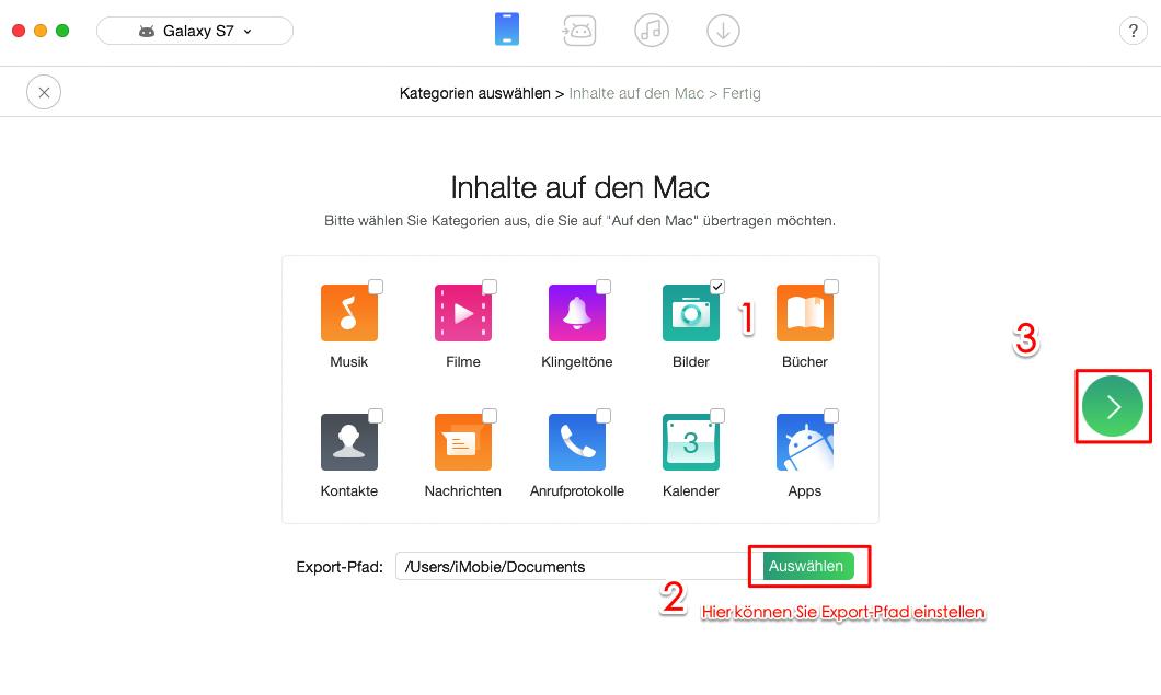 Android Fotos & Bilder sichern - Schritt 3