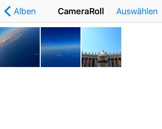 Fotos vom iPad auf iPhone 6 selektiv übertragen