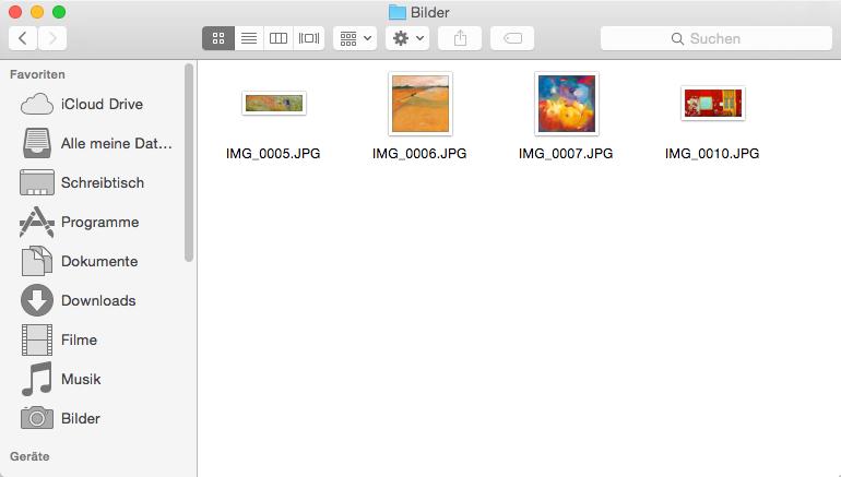 Bilder von iPad auf Mac ohne iPhoto direkt übertragen