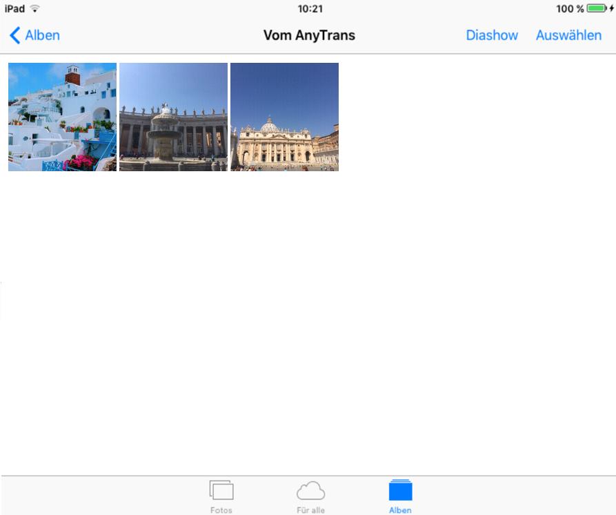 Foto von iPhone X/8/7 auf iPad direkt übertragen – Schritt 4