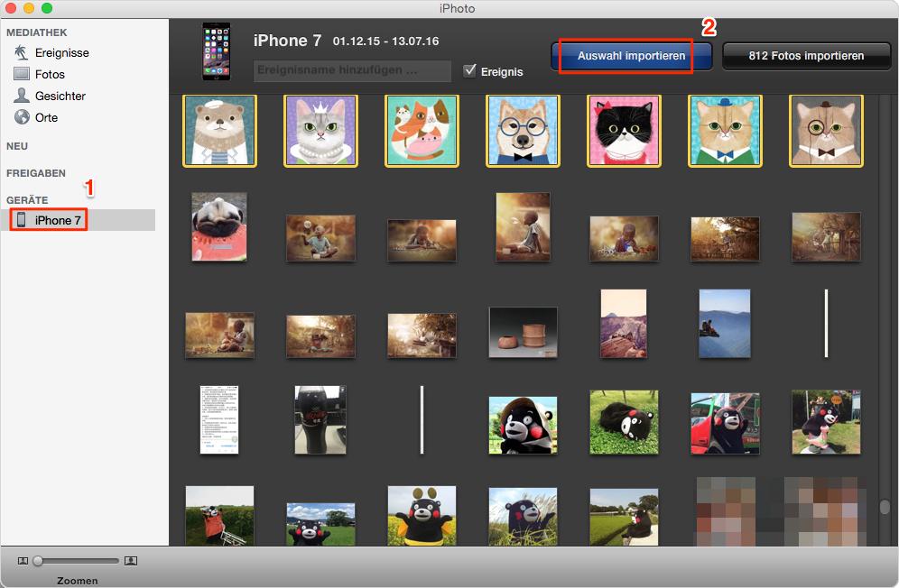 Mit iPhoto: Fotos vom iPhone auf Mac übertragen