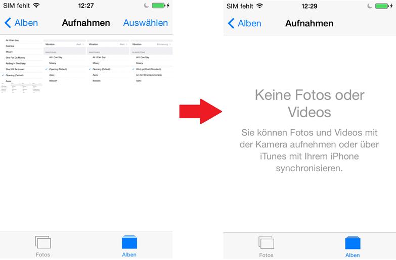 iPhone X/8 Fotos löschen – auf iPhone überprüfen