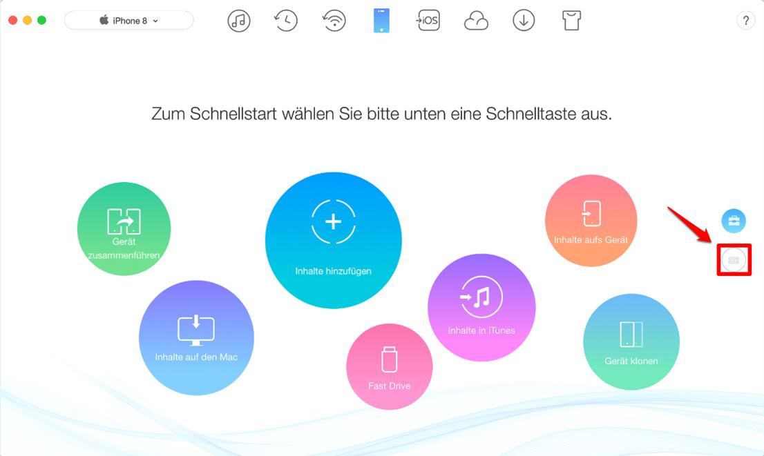 Fotos von iPhone auf Mac – Schritt 1