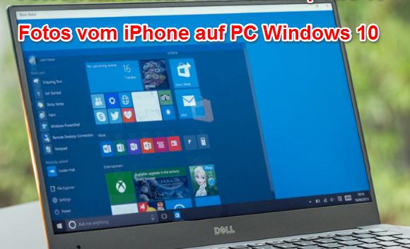 Fotos von iPhone auf PC Windows 10