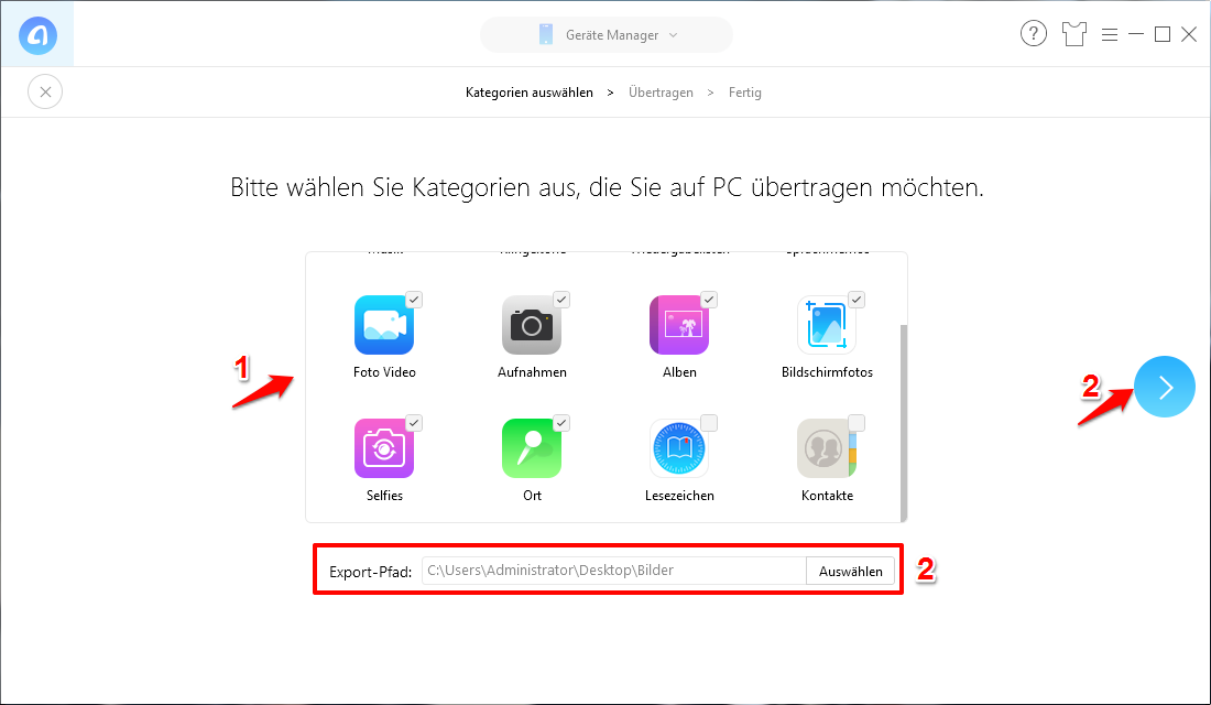 Fotos vom iPhone löschen aber nicht in iCloud – Schritt 2