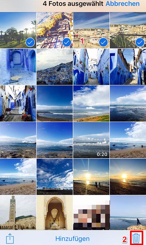 Bilder vom iPhone löschen
