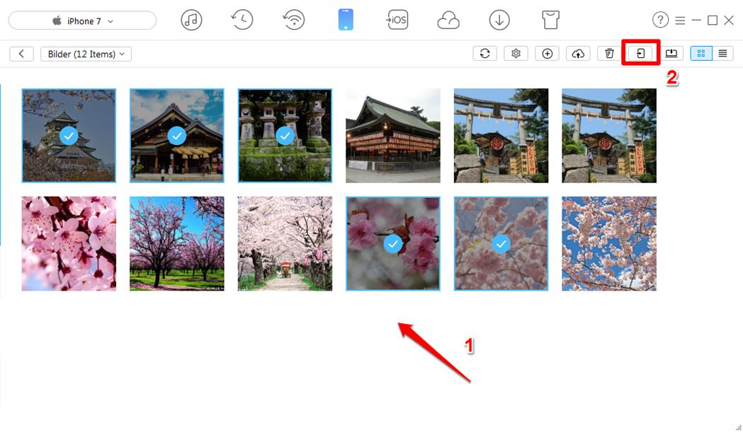 Fotos vom iPhone X auf iPad einfach kopieren - Schritt 2