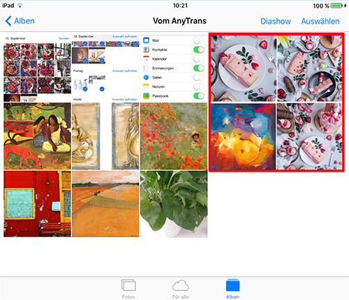 Fotos von Mac auf iPad schnell übertragen