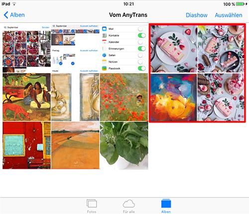 Fotos vom Mac auf iPad